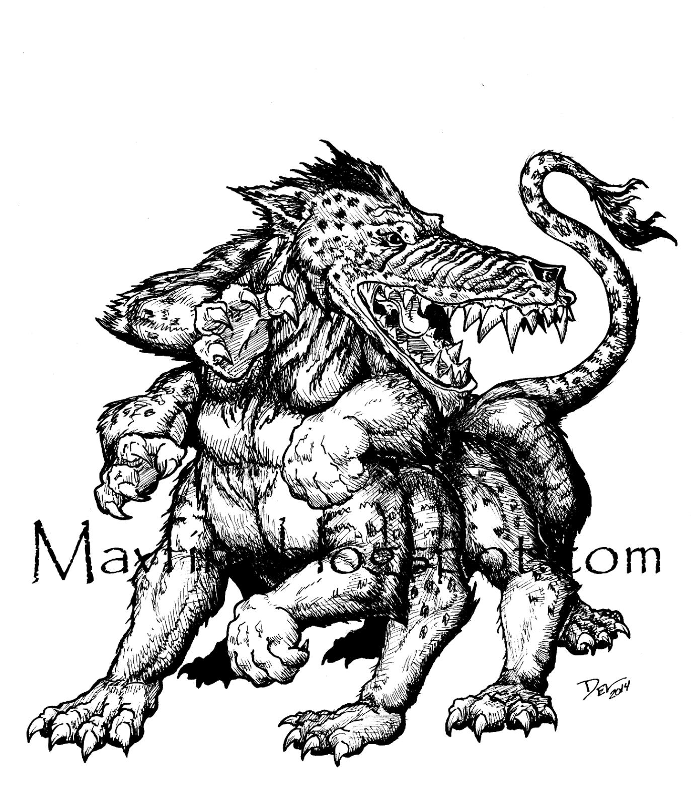 Andrewsarchus Del Teigeler Mavfire Creature Monster
