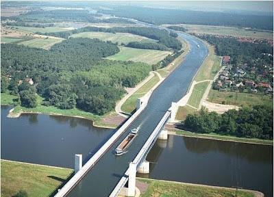 Río sobre el Río Alemania