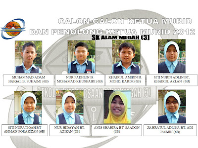 WAJAH CALON-CALON KETUA DAN PEN. KETUA MURID 2012