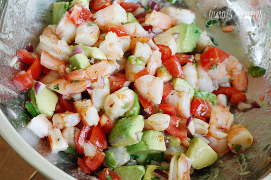 ... Food I Made This Weekend-Shrimp, Avocado and Tomato Salad with Quinoa