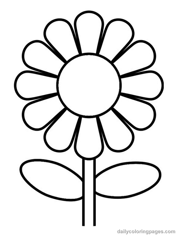 Attrayant Flower Coloring Pages Printable