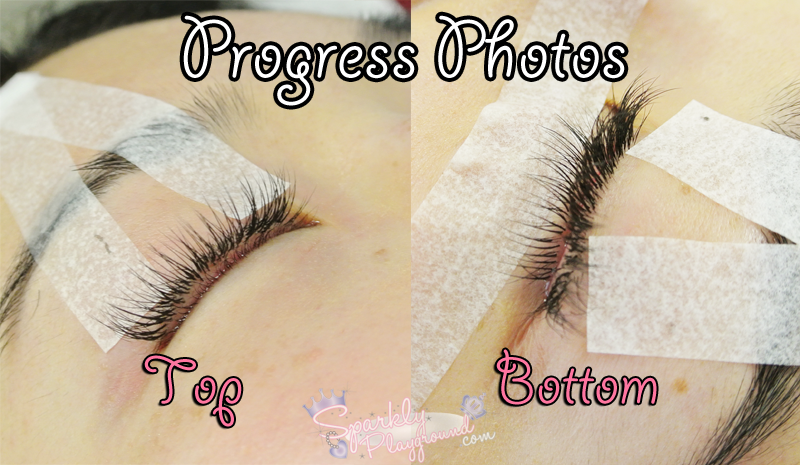 Review My First Eyelash Extensions Ever Eyelash Canada Sparkly