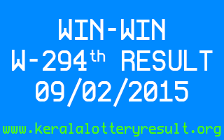 WIN-WIN Lottery W-294 Result 09-02-2015