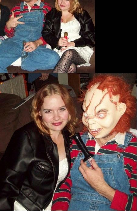 Diy crafty chicky chuckys costume was pretty simple to make i picked up a red and blue striped sweater and a pair of overalls from value village i did however cave and solutioingenieria Choice Image