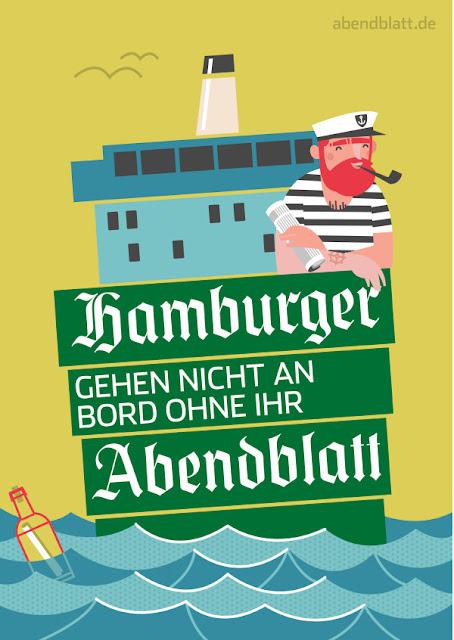 Plakate in Mid Century Design Ästhetik des Hamburger Abendblattes – schicke Wanddekoration in jeder Einrichtung