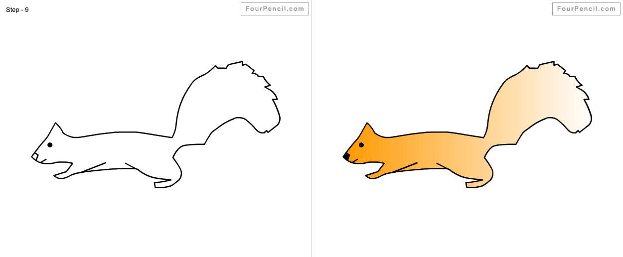 fpencil how to draw squirrel for kids step by step