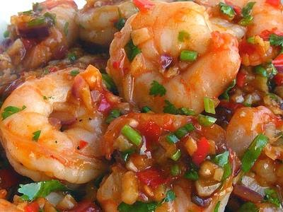 Le Risotto au Curry Rouge et aux Crevettes