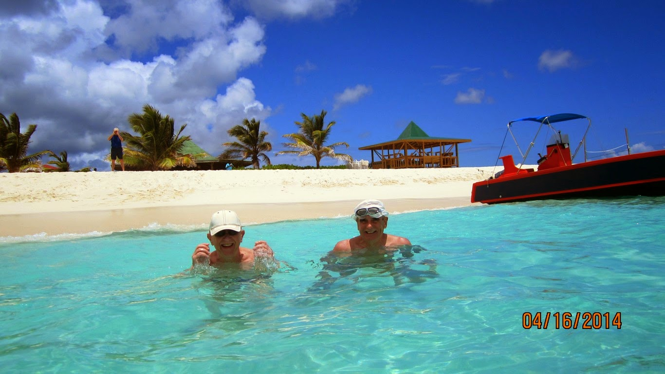 And, of course we've made an obligatory trip to Sandy Island, Anguilla
