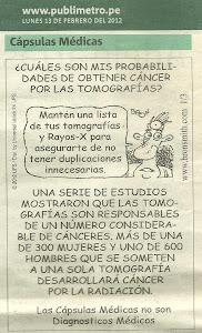 TOMOGRAFIAS Y RAYOS X, RADIACIONES CANCERIGENAS.