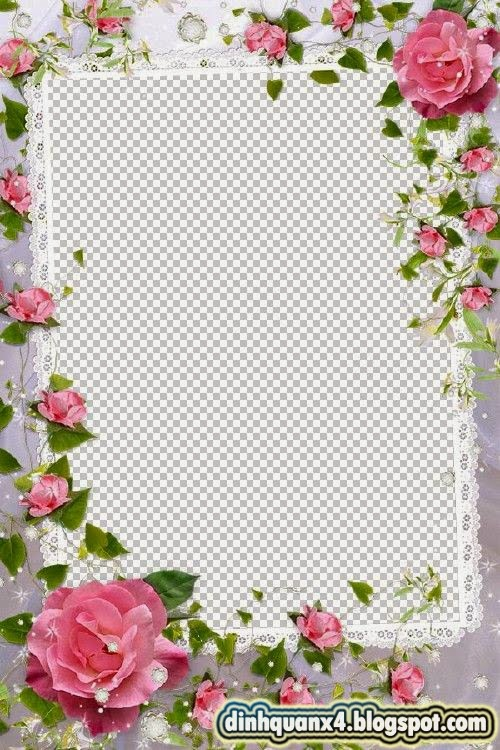 Flower Picture Frame - Charming rosettes