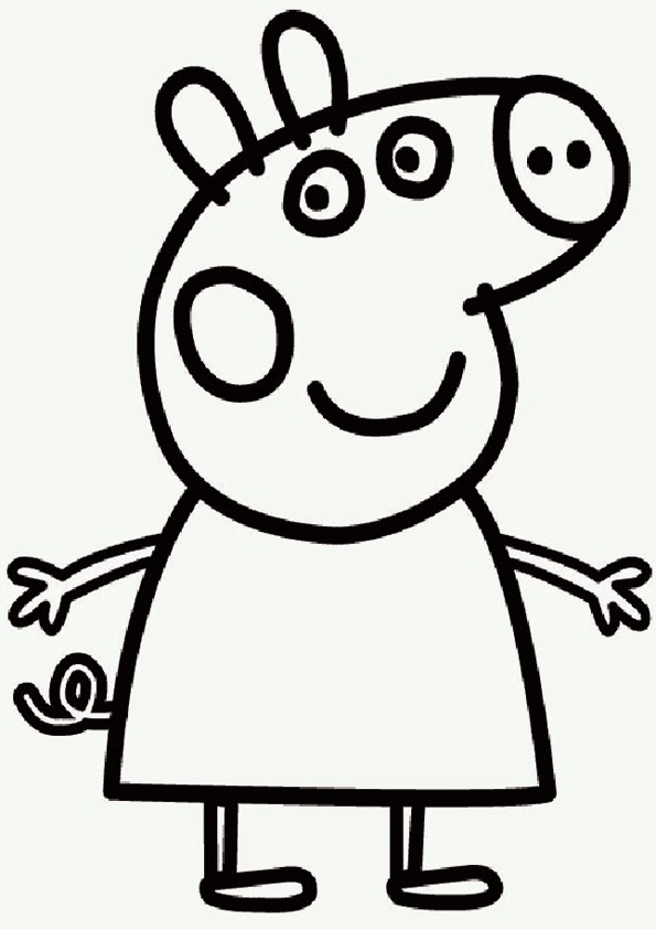 Disegni da colorare peppa pig Coloring drawings for kids