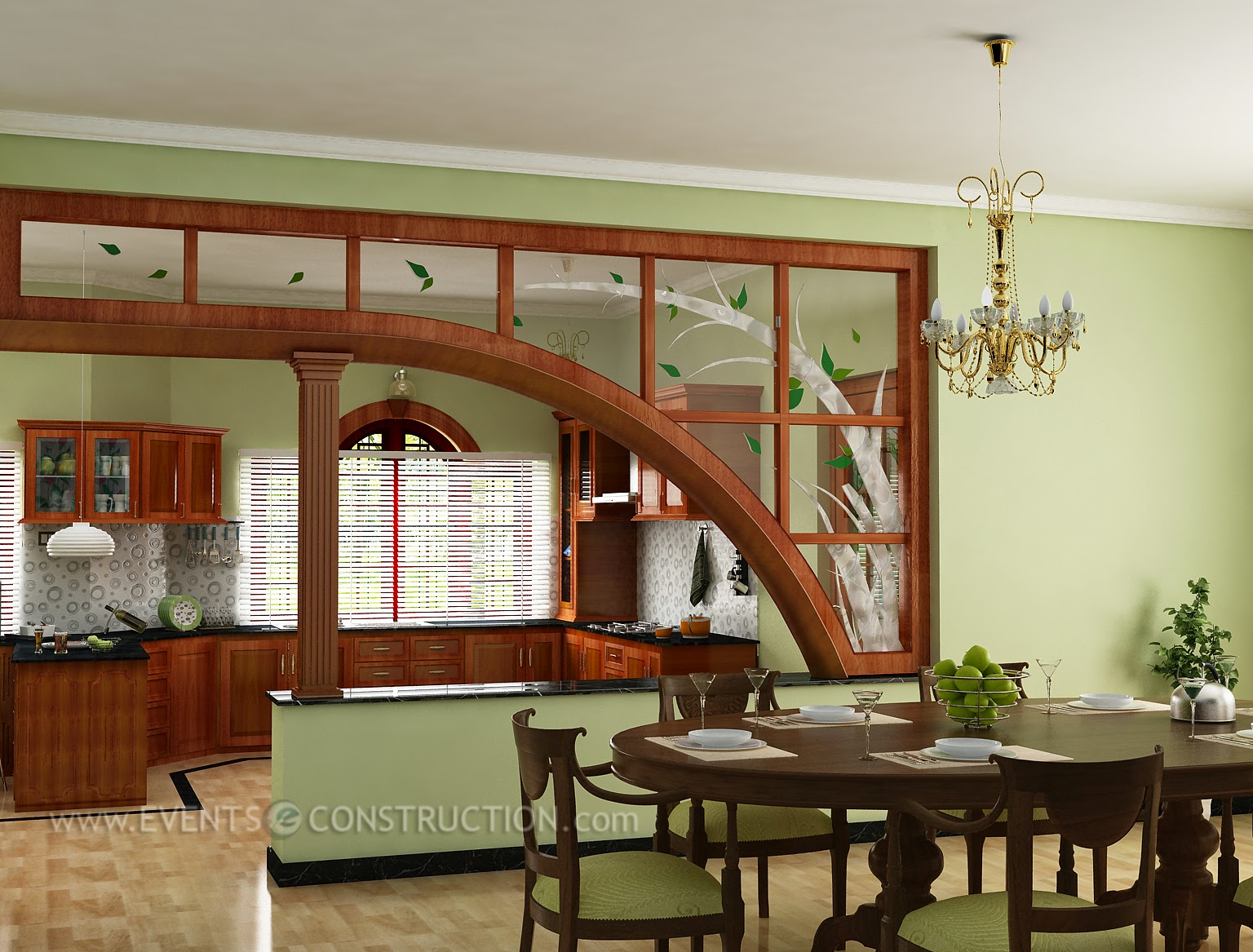 evens construction pvt ltd dining room kitchen and