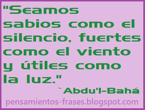 frases de `Abdu'l-Bahá