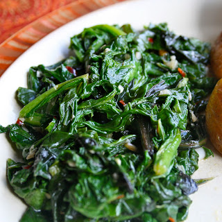 Sauteed Beet and Turnip Greens