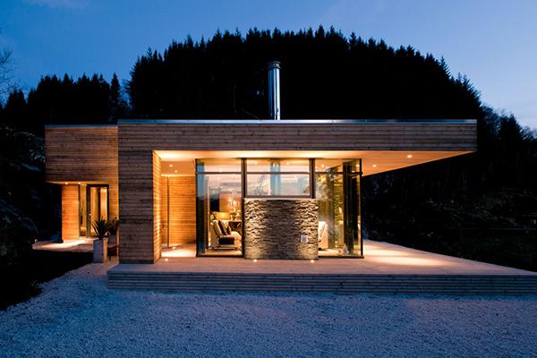 Diseño de interiores & arquitectura: cabaña contemporánea caliente ...