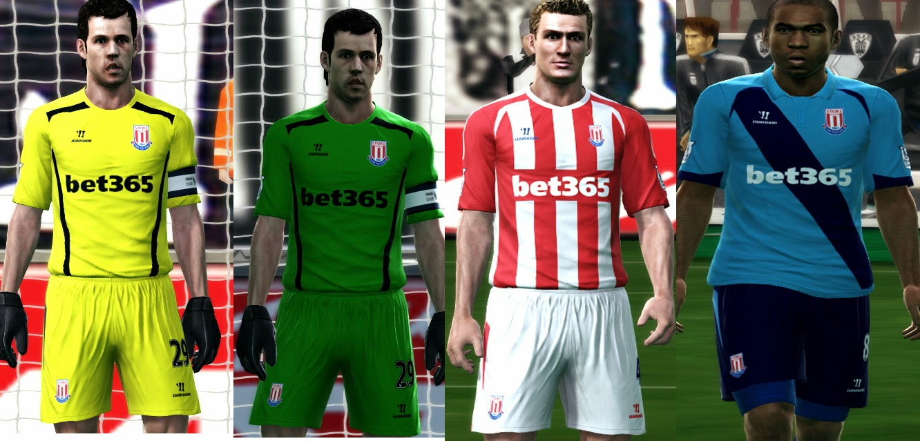 PES 2013 STOKE CITY 2014/15 GDB Kits by argyris
