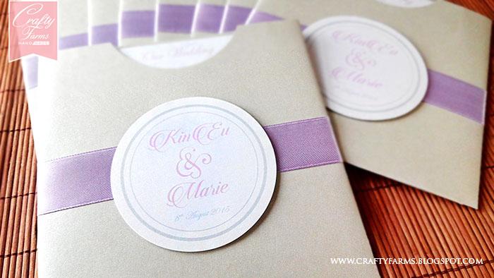 Wedding Card Malaysia – Pocket Invitation Cards
