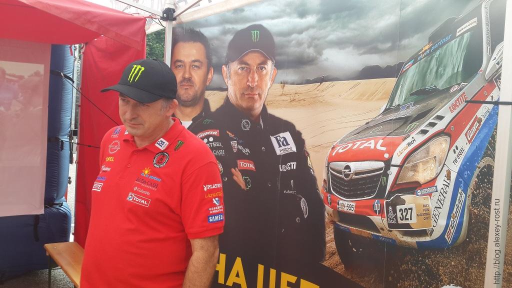 Салаи Болаж начинает рассказ об интересных моментах своих гонок