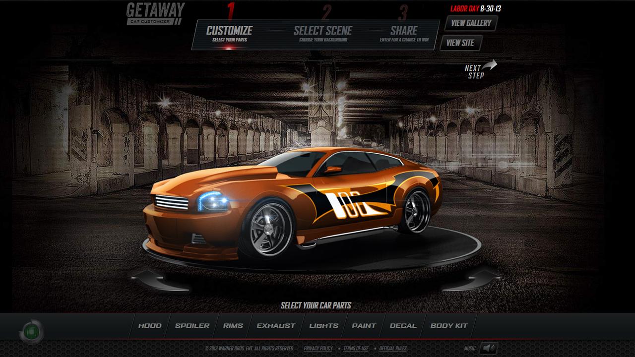 Client: Getaway Car Customizer   Jas Bajric - 3D Vehicle Showcase