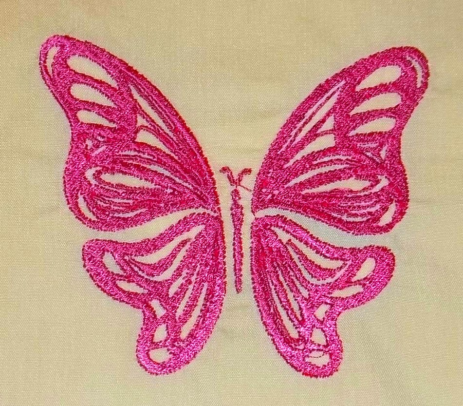 Embroidery Nerd Digitized Butterfly Embroidery Design