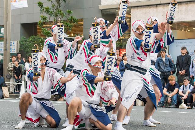 第36回 大新宿区まつり「新宿芸術天国2015」 阿波おどり つつじ連