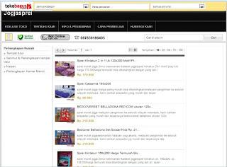 Bedcover Murah Online di tokobagus