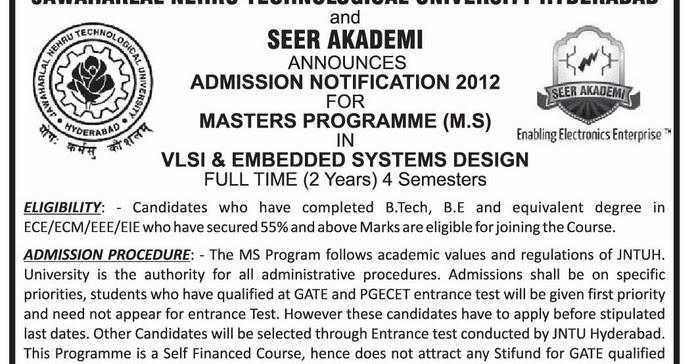 Jawaharlal Nehru Technological University Hyderabad MS