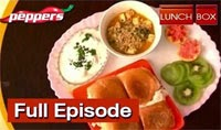Recipie for Pista Paneer Gravy with Pav Bun and Nellikai Pachadi | Lunch Box