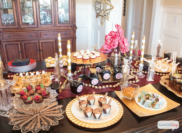 while the oscars are over amy from attagirl says shared her gorgeous oscar party and lots of recipes of what she served many of these ideas can be used