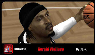 NBA 2K13 Gerald Wallace Cyber Face Mods