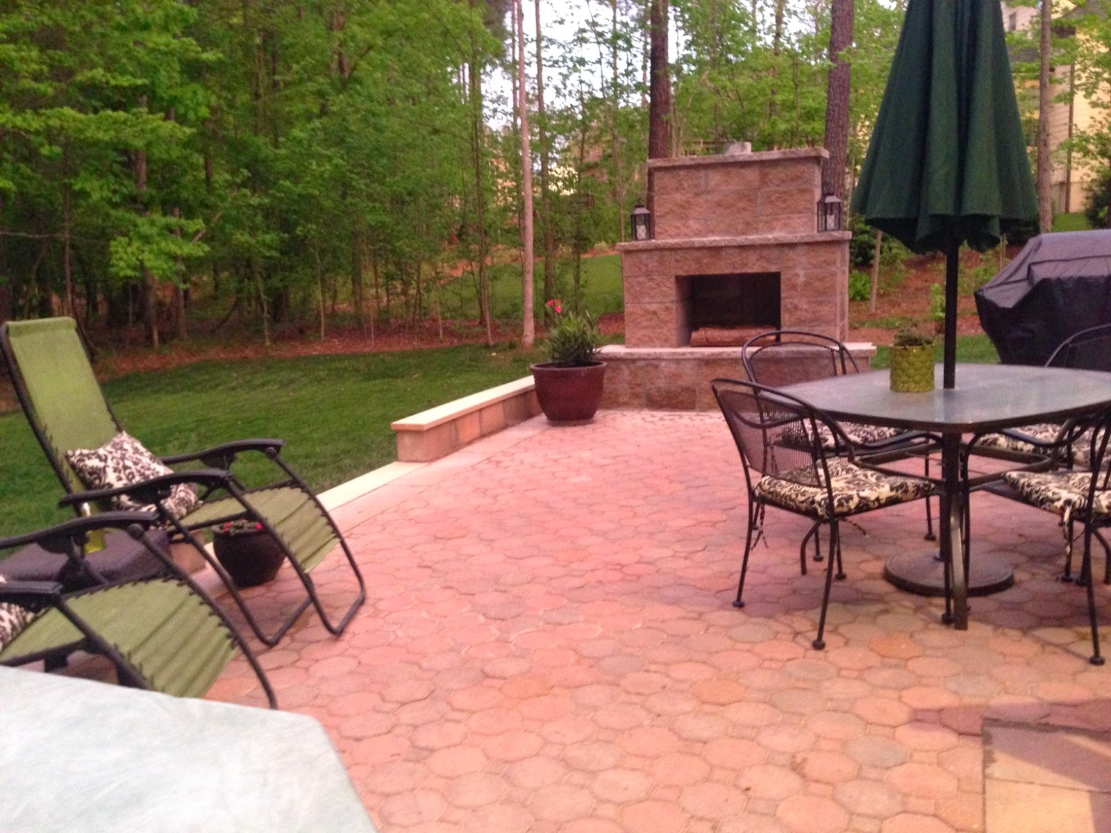 DIY Paver Patio And Outdoor Fireplace Reveal!