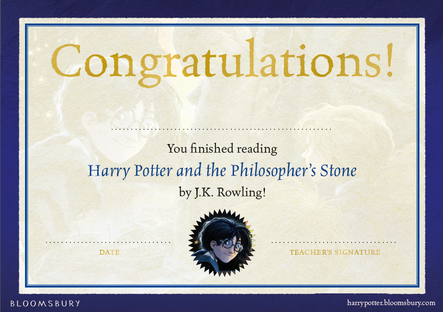 Diplomas De Lectura Harry Potter