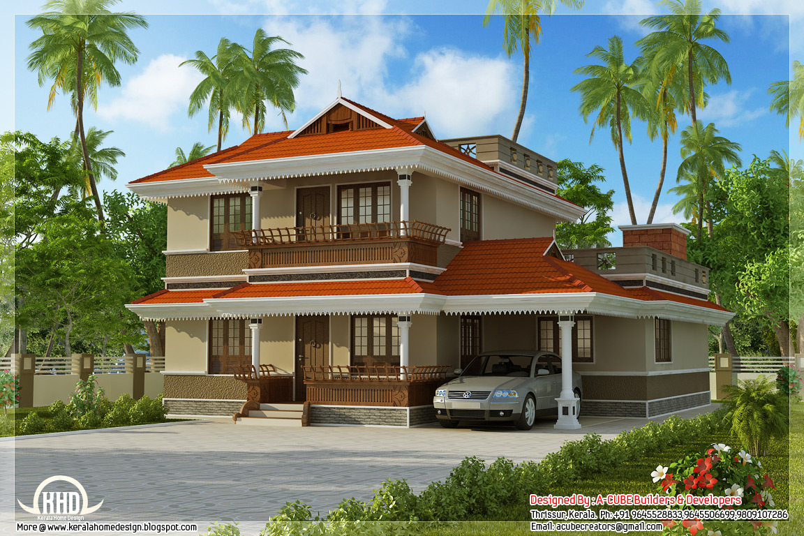 Kerala model home plan in 2170 indian house plans for South indian model house plan