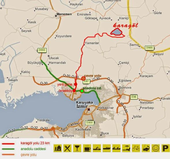 İzmir Karagöl Harita