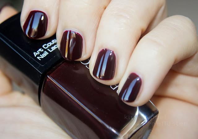 vampy shades nail polish dark burgundy red mystical heart