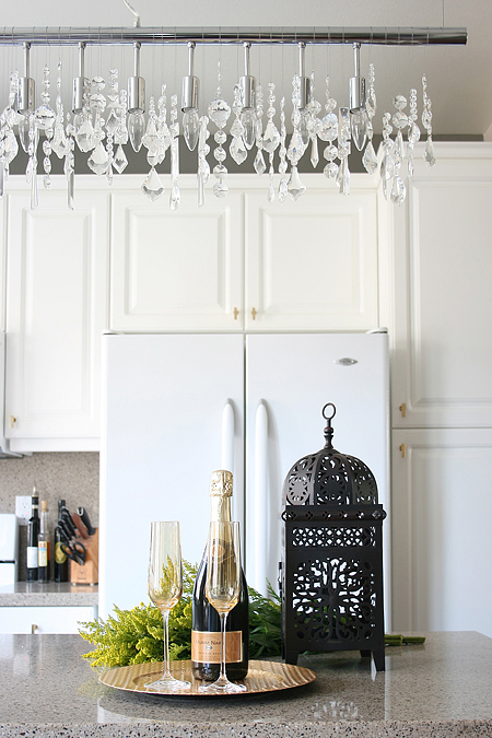 Chinoiserie Chic One Room Challenge Lighting and Caffeine – Cellula Chandelier