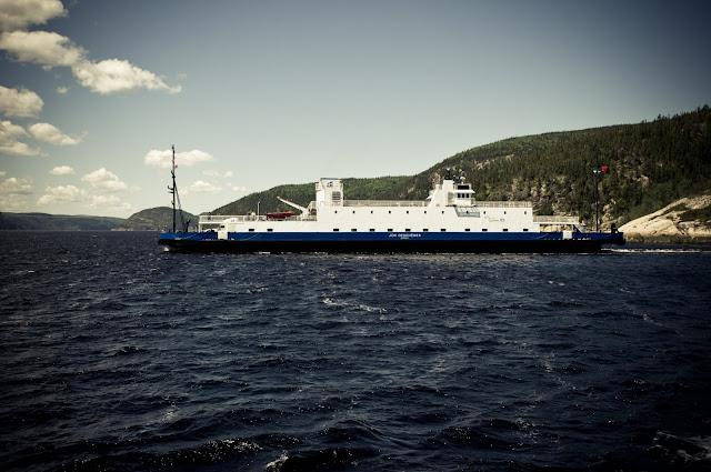 Québec 138 ferry to Tadoussac.