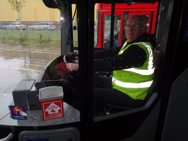 Me behind the wheel of Walsall Garage's Enviro 400 MMC Platinum (6721)