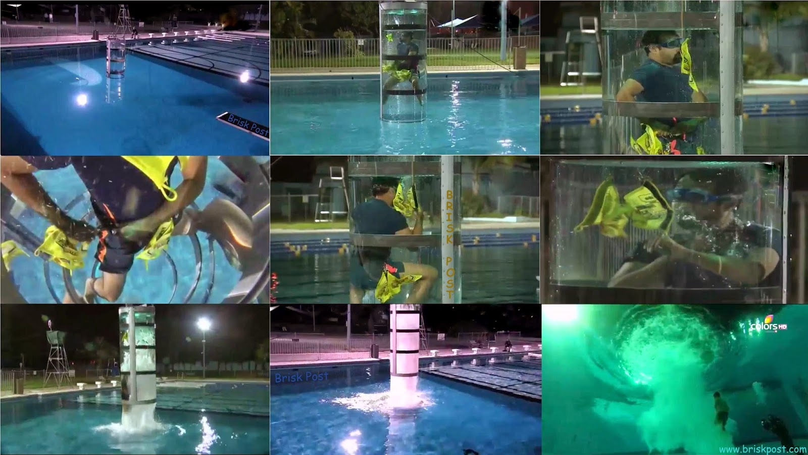 Underwater Vacuum Cleaner Stunt Flushed Out Khatron Ke Khiladi Ranvir, Karanvir and Nikitin