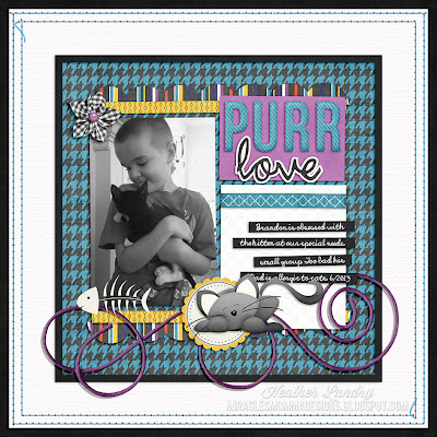 Kitten Love_Pet Scrapbook Page_Son_Digital