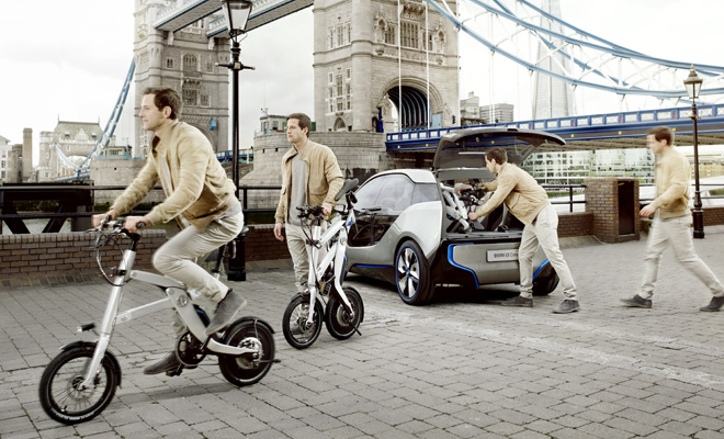 BMW i3 and BMW i-Pedelec bike