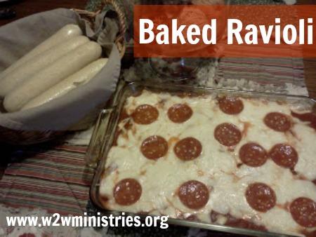 #Baked #ravioli #Italian