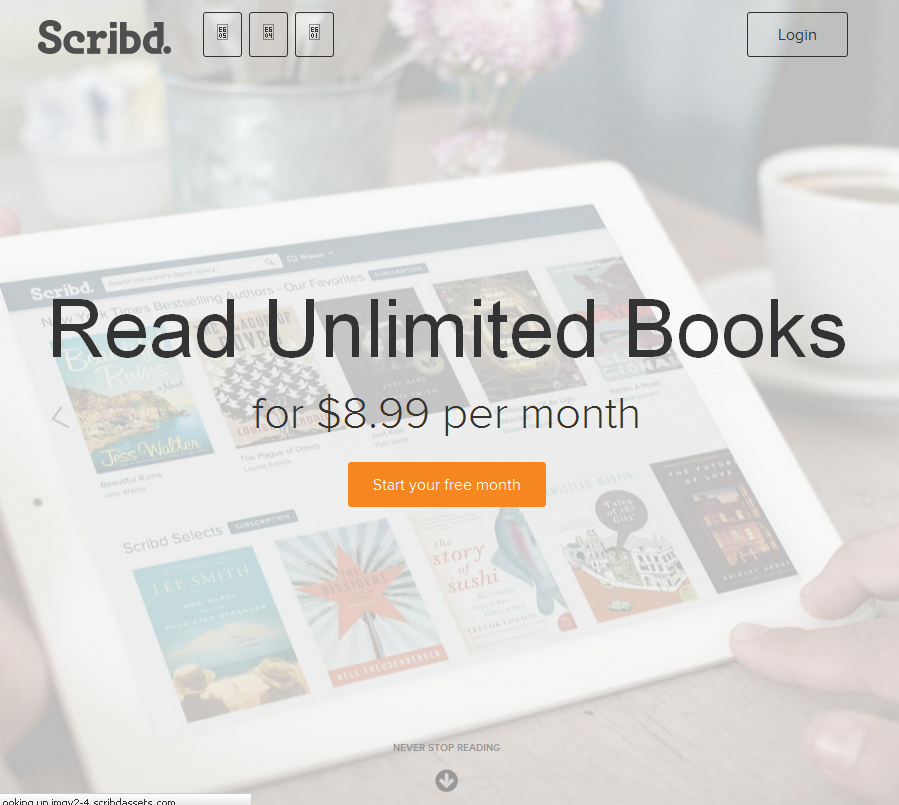 Smashwords smashwords signs distribution agreement with scribd visit the scribd home page and its immediately apparent theyre positioning their entire business around ebooks theyre working to convert their 80 fandeluxe Image collections