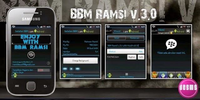 BBM Mod Ramsi V.3.0 Untuk Android Gingerbread