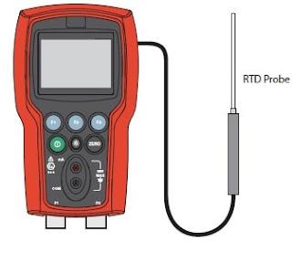 Fluke 721Ex pressure calibrator Set up of temperature calibration