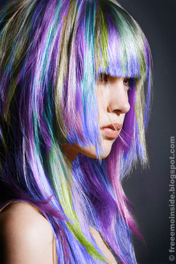 colorful emo hairstyles. Cute EMO Girl Hairstyle