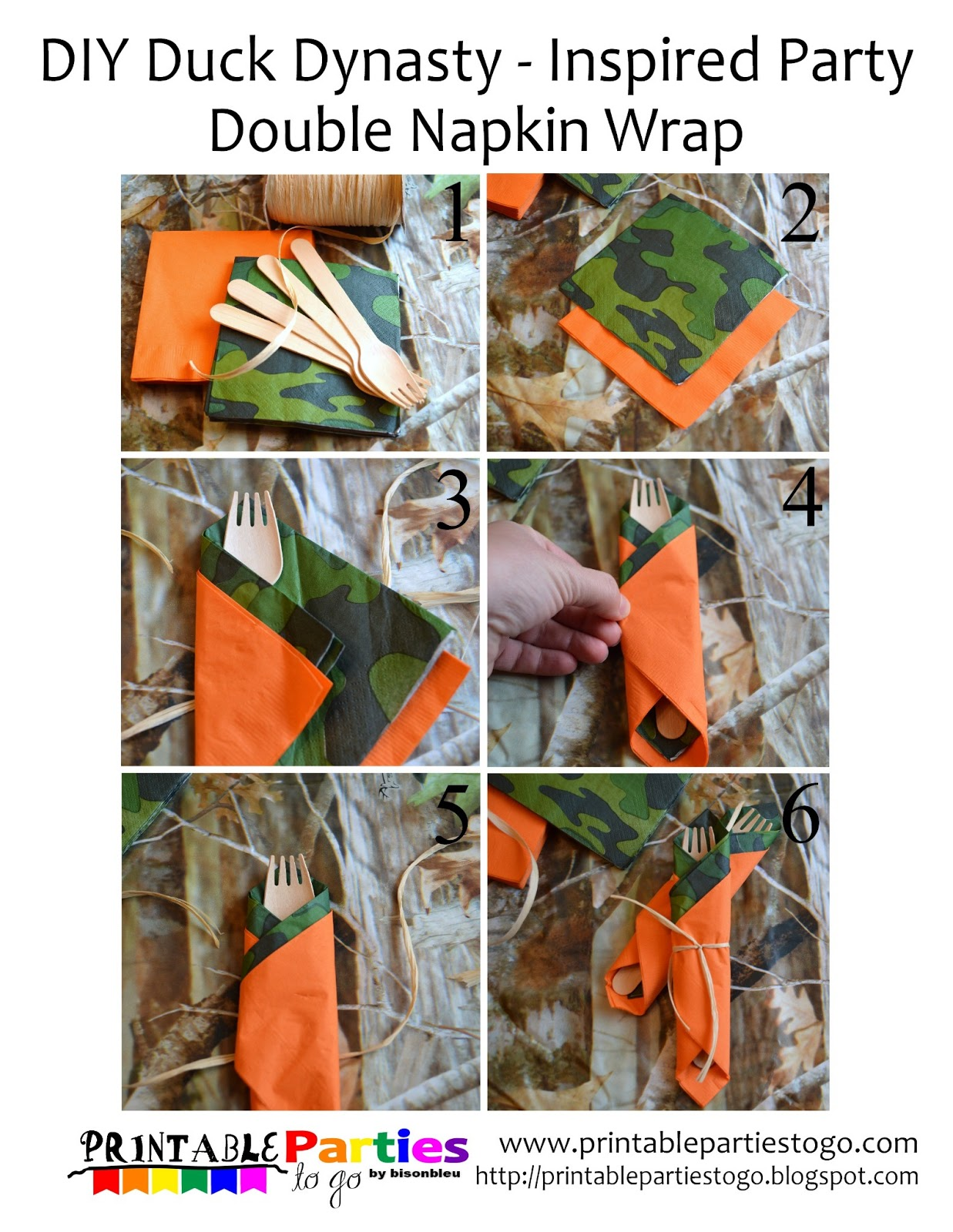 DIY Duck Dynasty Inspired Party Double Napkin Wraps