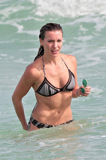 Katie Cassidy – Day 3 wearing a bikini at a beach