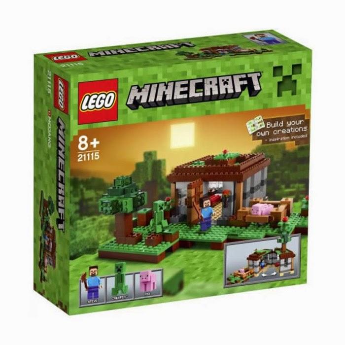 TOYS : JUGUETES - LEGO Minecraft 21115 La Primera Noche | The First Night Producto Oficial 2014 | A partir de 8 años