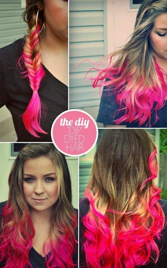 DIY Mechas de colores en el cabello con papel crepe